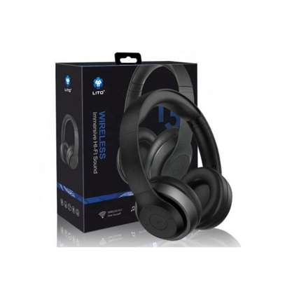 T3 Stereo Wireless Bluetooth Headphones With Mic-Black