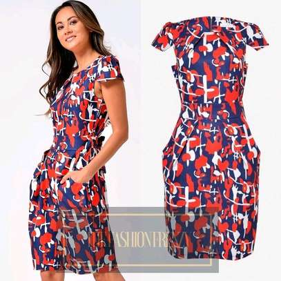 Red and Navy Tulip Dress