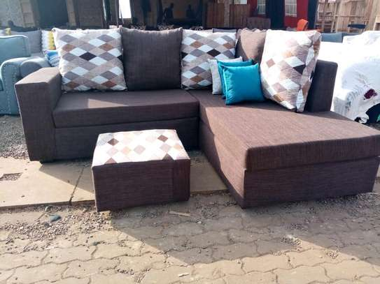 L shaped five seater on sale. image 1