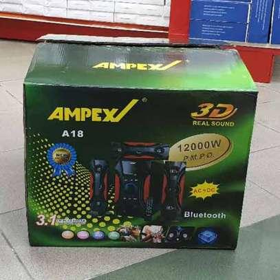 Ampex A18 3.1 Channel 12000 Watts Multimedia Speaker System-Black image 4
