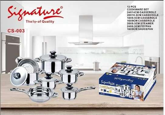 Signature 12 piece induction base stainless steel image 1