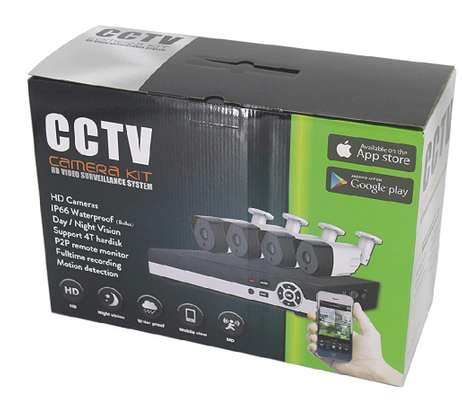CCTV 4PC COMPLETE CAMERA KIT WITH 1TB HARD DISK image 4