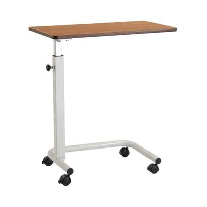 Hospital bedside table overbed table with wheels image 1