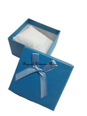 Blue Gift Boxes With Cover Ribbon image 1