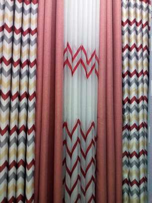 double sided curtains with matching sheer image 1