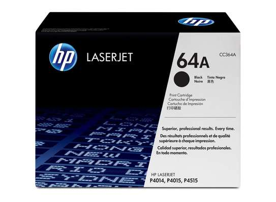 HP 64A Black Original LaserJet Toner Cartridge image 1