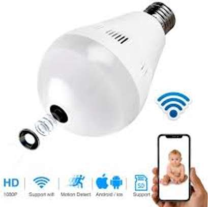 nanny bulb camera with 360degrees view image 1