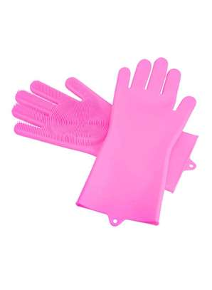 Pink Silicone gloves
