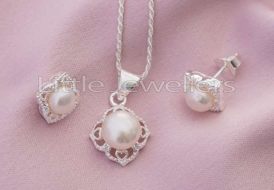 Sterling silver necklace sets perfect for mother's day!! image 1