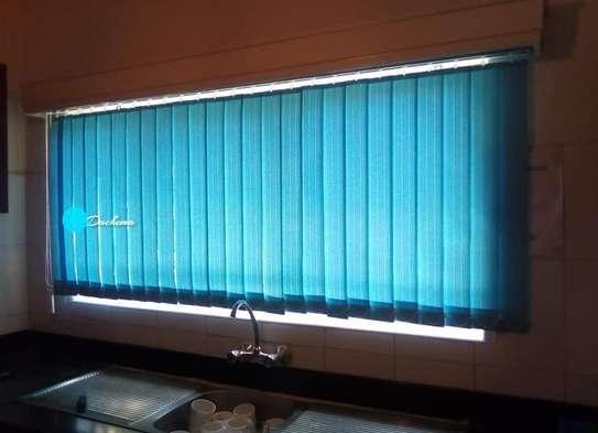 blue office blinds image 1