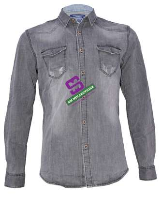 Classic Non-Fade Slim Fit Denim Shirts
