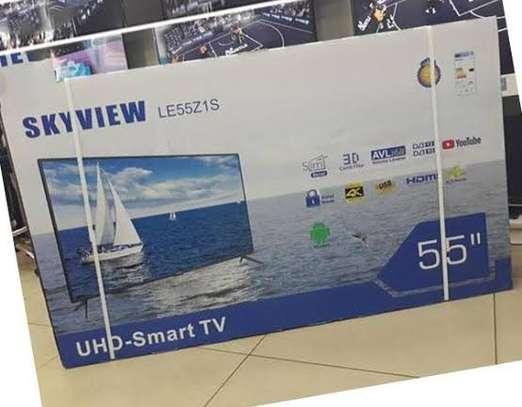 Skyview 55″ Smart UHD LED TV-Black image 1
