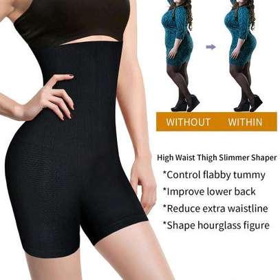 Fashion Black High Waist Tummy Control Panties Butt Lifting And Thigh Slimming Shapewear image 4