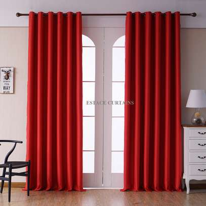 CURTAINS WITH WHITE PRINTED SHEERS image 1