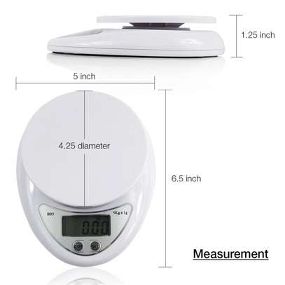 Digital Electronic kitchen 10 Kg weighing scale machine white one size image 3