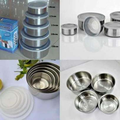 Stainless Steel Storage Food Bowl Containers - Set of 5 image 5