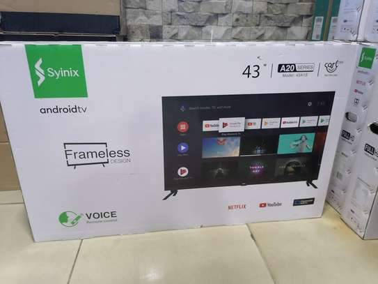 Syinix 43 inch smart android 43A1s frameless TV image 2
