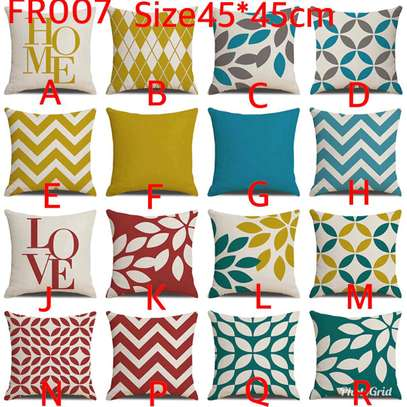 Unique colourful throw pillow covers image 2