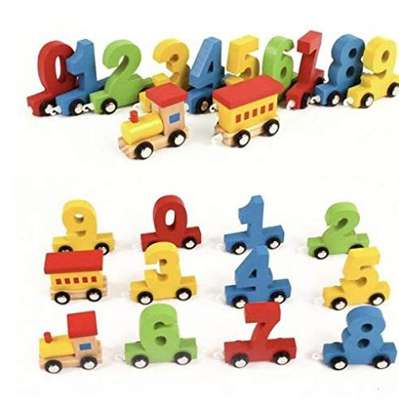 Numeric Numbers Children Wheeled Train Toys image 2