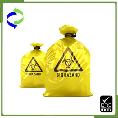 BIOHAZARD DISPOSABLE GARBAGE/TRASH BAGS image 1
