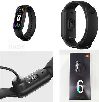 Xiaomi Mi Band 6 1.56 Inch Full Touch Screen Smart Watch - Black image 1