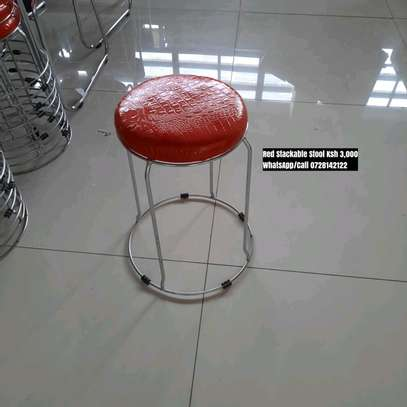 Red Stackable Stool image 1