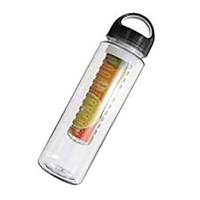 Sports Fruit Infusing Infuser Juice Bottle Water Bottle Cup Flip Lid - Black image 1