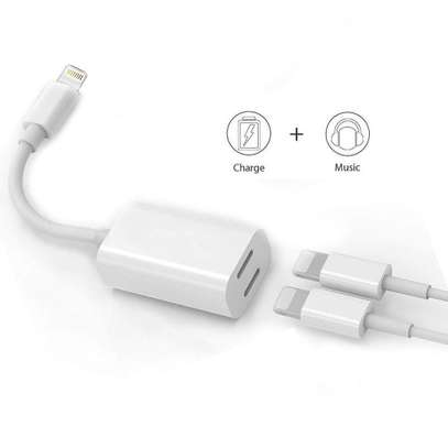 2 IN 1 LIGHTNING ADAPTER AND CHARGER FOR iPhone 7 7+ 8 8 Plus X image 4