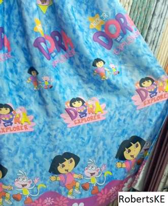 elegant dora themed kids curtains image 1