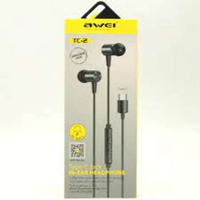 Brand Name: Awei  Vocalism Principle: Dynamic  Control Button: Yes  Active Noise-Cancellation: No  Communication: Wired  Volume Control: No  Style: In-Ear  Sensitivity: 90±3dBdB  Wireless Type: None  Is wireless: No  Line Length: 1.2mm  Support APP: No  Function: Common Headphone  Function: For Mobile Phone  Plug Type: Line Type  Connectors: 3.5mm  Model Number: AWEI TC-2  Support Memory Card: No  Resistance: 16ΩΩ  Waterproof: No  With Microphone: Yes  Feature 1: In-Ear Sport Earphone  Feature 2: Headset For Xiaomi Huawei Type-C Phone  Feature 3: Bass Sound Earphone image 2