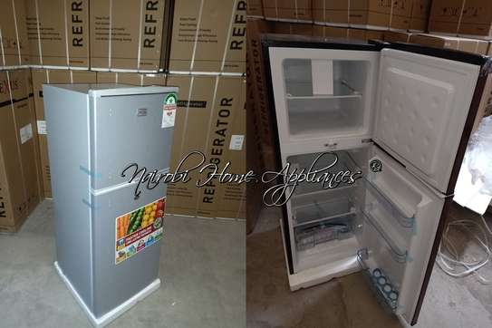 Nexus Fridge, 118L, Silver, Double Door