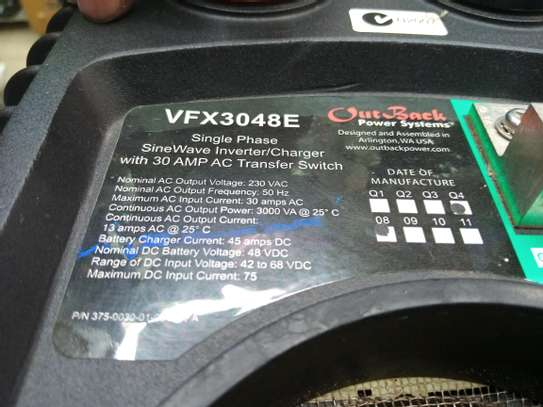 3KVA/48V OUTBACK INVERTER CHARGER image 5