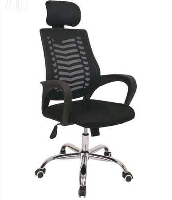 High back black digital office chair image 1
