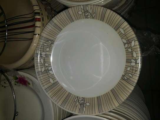12pc Melamine dinner plates/Extra heavy melamine plate/12pc Plates image 2