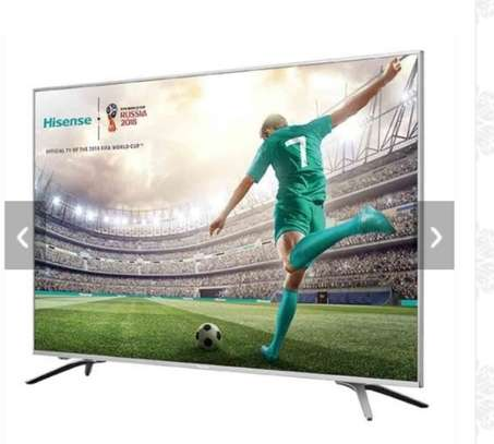 Hisense 43 Inch LED HDR 4K Ultra HD Smart TV 43B7100UW With Freeview Play, Black/Silver image 1