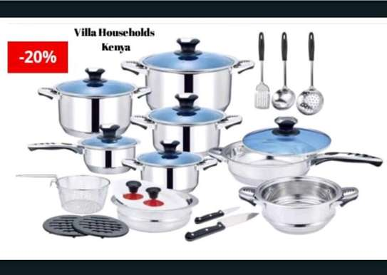 25pcs Harraz Interior stainless steel Cookware set image 2