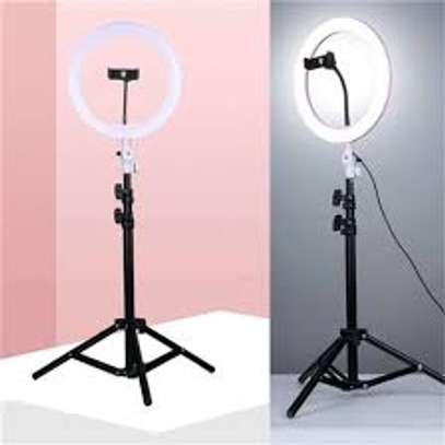 Photography Led Tiktok Ring Light 26cm Metal Frame Dimmable With 8 Ft Tripod image 4