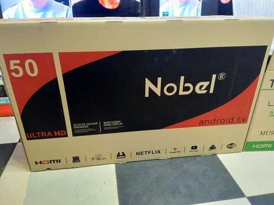 """50"""" Nobel 4k uhd Android frameless tv image 1"""