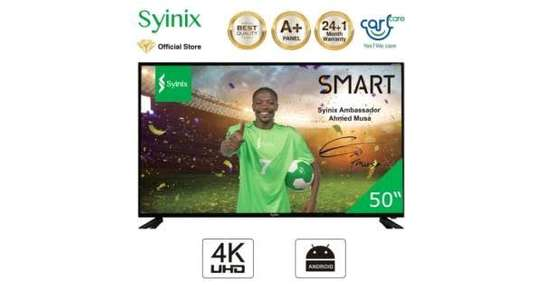 Syinix 50″ 4K UHD Android Smart LED TV image 1