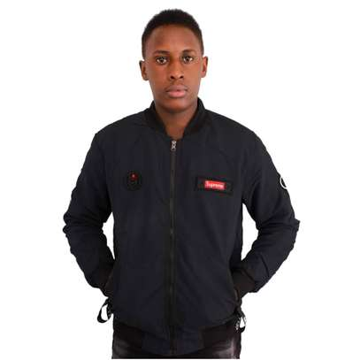 Supreme navy blue men bomber jacket H.W. image 1