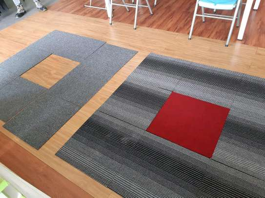 Grey and Dark Grey carpet Tiles image 2