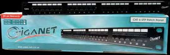 Giganet Category 6 UTP 19″ 24 Port Patch panel image 1