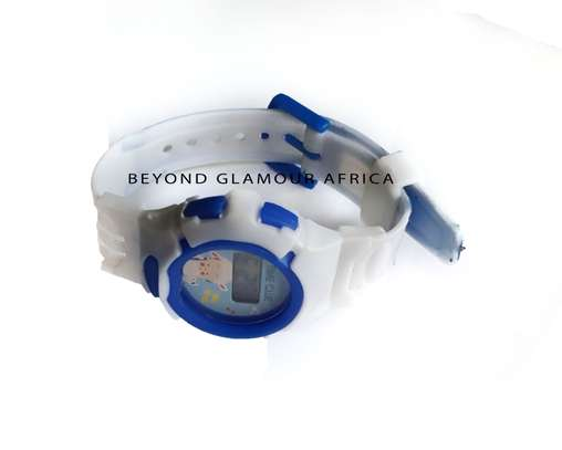 Blue and White Kids Watch