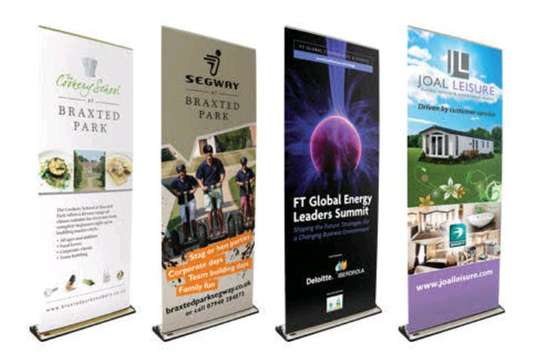 Broad base Roll up banners