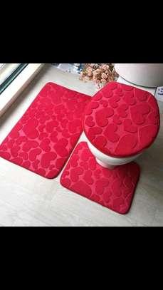 Toilet  mat/3 piece rug set image 2