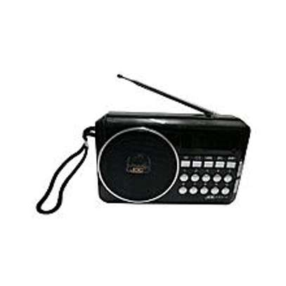 Rechargeable fm radio black image 1