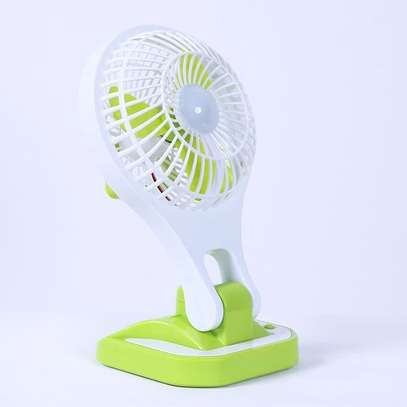 Generic Mini Portable Fan with LED light Rechargeable- green,pink,blue image 2
