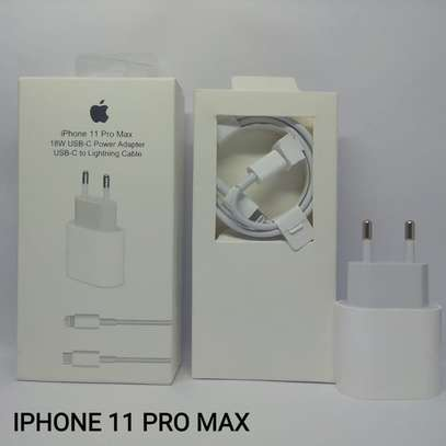 Original 18W Apple iPhone 11/11 Pro/11 Pro Max USB-C Power Adapter Type-C to Lightning Fast Charger for iPhone image 3