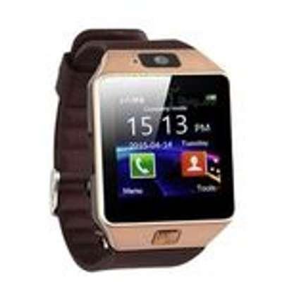 New Model DZ-09 Touch Screen Smart WatchNew Model B701 Touch Screen Smart Watch Phone - Brown Phone - Brown image 1