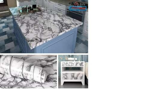 Elegant Marble Kitchen Contact paper design image 7
